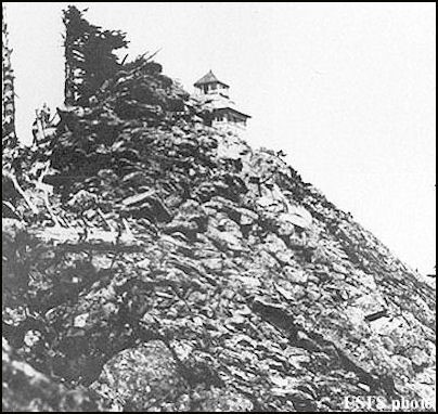 1928 (photos courtesy Fire Lookout Museum)