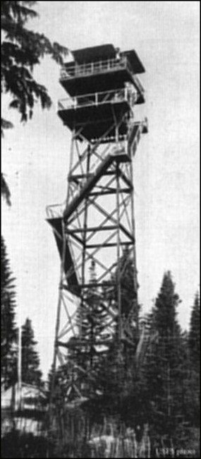 1945 (Photos courtesy Fire Lookout Museum and Dave Bula collection)