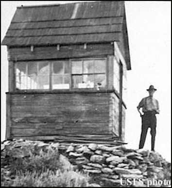1945 (photos courtesy Fire Lookout Museum)