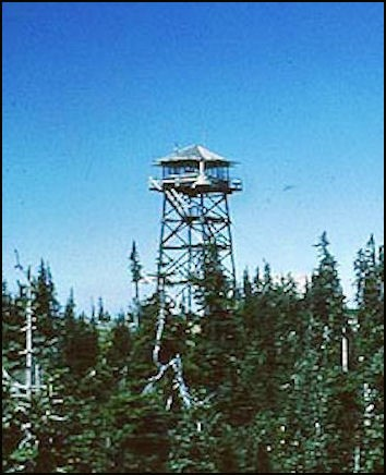 Tower in 1955 (Photos courtesy Fire Lookout Museum)