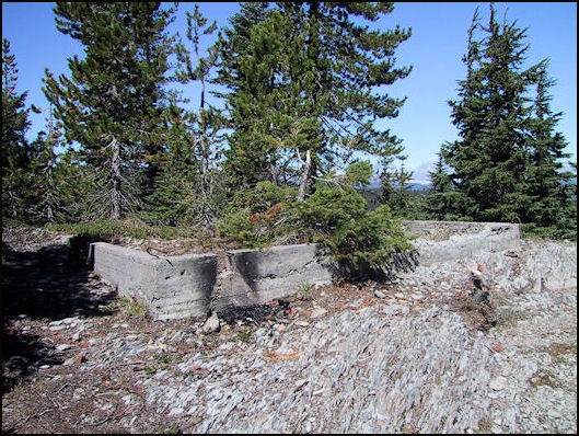 Remains of cabin foundation