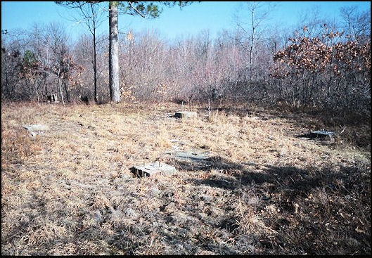 Tower remains in 2000 (Photos courtesy of Pete Carron)