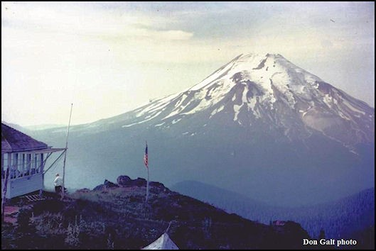 Lookout with view of Mount St. Helens in 1958