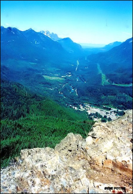 View of Stevens Pass from site