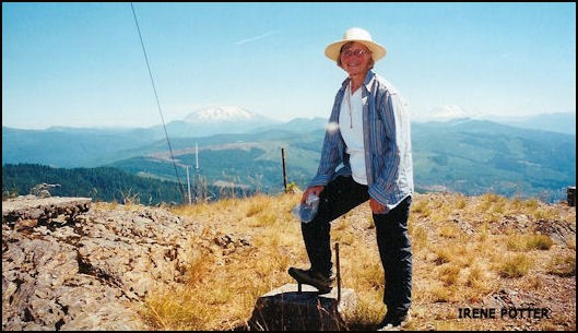 Mount St. Helens and Mount Adams in background 7/24/2000
