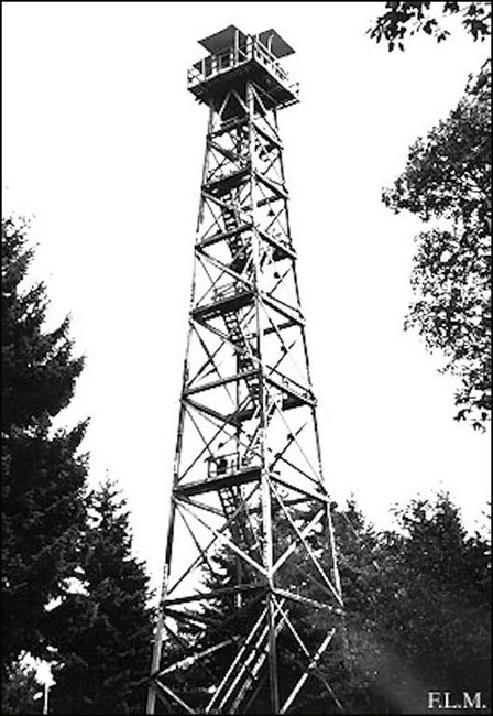 1965 photo of wooden tower