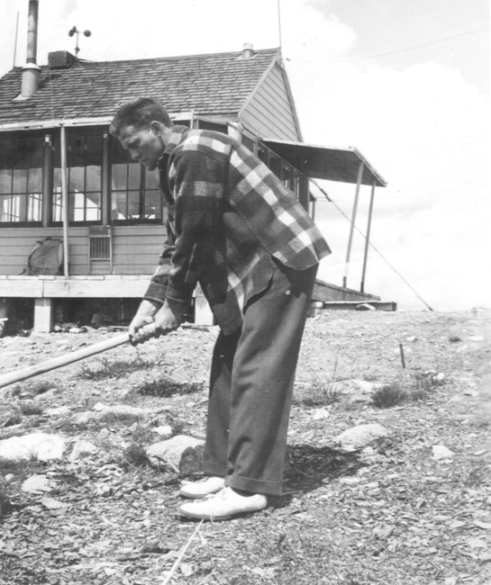 Chopping Wood in 1941 (photo from Mark Lutz)